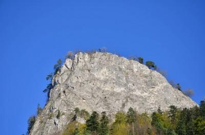 Szczyt Sokolicy - widok z Drogi Pienińskiej